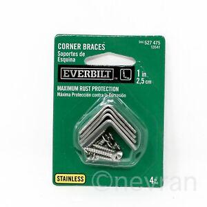 Everbilt 1 in. Stainless Steel Corner Brace (4-Pack)