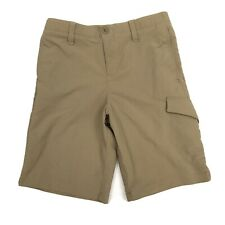 Under Armour Boys Match Play Brown Cargo Shorts Sz 12