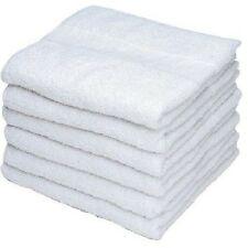 12 New White Georgia Mills Brand Economy Gym Salon Hand Towels 16X27 Economy Spa