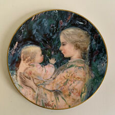 Royal Doulton Edna Hibel Kristina And Child 1975 Decorative Mother Plate # 12205
