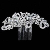 Elegant Bride Wedding Hair Comb Crystal Hairpin Bridal Headpiece Hair Jewelry