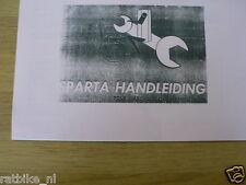 S0208 SPARTA---HANDLEIDING TOUR-SAXONETTE---OF 2 VERSNELLINGEN 50cc-MODEL