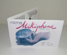 Mikiphone Pocket Phonograph Gramophone FRENCH  Instruction Manual Reproduction