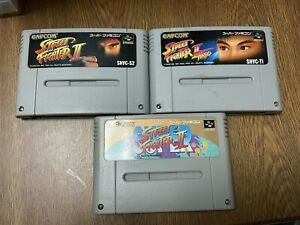FREE SHIPPING  SUPER Famicom   STREET FIGHTER 2 Ⅱ SET