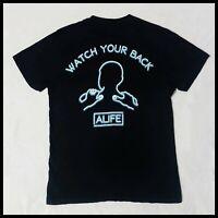 Alife T-Shirt | Medium | Black/Neon Blue | Rare