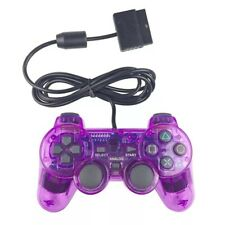 New Wired Playstation 1 & 2 PS1 PS2 Purple Controller US Seller Fast Shipping!