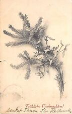 BG20398 fir branch mistletoe  m k vienne weihnachten christmas   germany