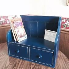 Cook Book Recipe Rack Display Shelf Country Primitve Kitchen Display Navy Rustic