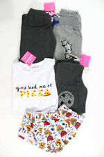 Lot 4 Kids Agree 2 Disagree Gray Smiley Pants White Pizza Shirt Size Small New