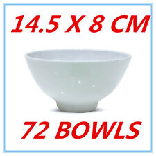 72 X GLOSSY WHITE MELAMINE ROUND RICE BOWLS BOWL PARTY FUNCTION EVENT KITCHEN FD