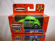 MATCHBOX VW VOLKSWAGEN BEETLE 1962 - 50 YEARS - GREEN 1:55? - EXCELLENT IN BOX