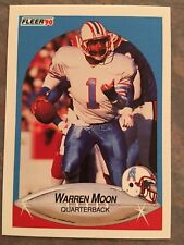 1990 Fleer Football Card #133 Warren Moon Houston Oilers NM/MT