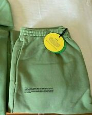 PANGAIA LEAFY GREEN RECYCLE ORGANIC COTTON TRACK PANTS UNISEX  SZ L