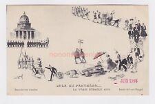 JUDAICA DREYFUS AFFAIRE 'ZOLA AU PANTHEON DEBACLE' JEWISH POSTCARD 1908 - J1137