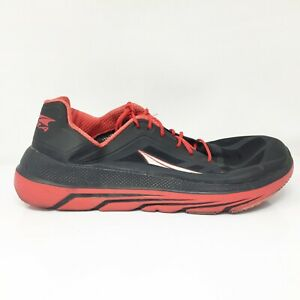 Altra Mens Duo AFM1838F-6 Black Red Running Shoes Lace Up Low Top Size 12