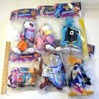 Vintage Space Jam Tune Squad Set of 6 Looney Tunes McDonalds Plush Toys New 1996