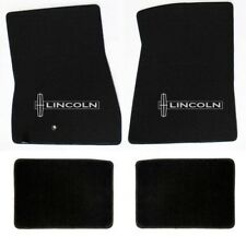NEW! Black Floor Mats 1998-2010 Lincoln Town Car Embroidered star Logo set of 4