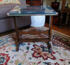 Vintage+Oak+Arts+%26+Crafts+Folding+Table+With+Glass+Display+Top+PICK+UP+ONLY+-+CA
