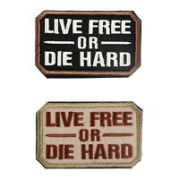 MilSpec LIVE FREE OR DIE HARD Multicam-Tac OPS Military Army Morale Patch^