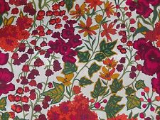 "LIBERTY ART FABRICS ""EDNA"" PER HALF METRE (50cm) cotton tana lawn PINK/ORANGE"