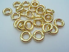 25 X 8mm (exterior) 1.5mm GOLD THICK CLOSED WELDED JUMP RINGS JEWELLERY MAKING