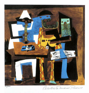 Pablo Picasso Three Musicians Limited Edition Giclee Estate Signed 20x13