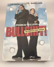 Penn  &  Teller - Bullsht:The Complete Third Season DVD Box Set NEW