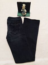 Womens Seven 7 For All Mankind Classic Flare 'S' Pocket 24 Jeans black wash Nice