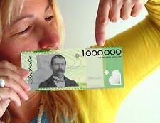 Australian Novelty Million Dollar Notes x 5 NEW