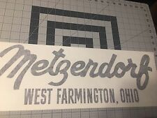 "Metzendorf Travel Trailer Decal 19"" Black Die Cut Vinyl set 2"