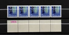 UNITED STATES, SCOTT # 3207, STRIPS OF 5 PNC5 #S1111W/ NUMBERS ON BACK, WETLANDS
