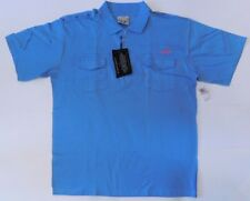 NWT BLAC LABEL, Blue w/Details Short Sleeve Polo, 100% Cotton, Size 3X (SSP-101)