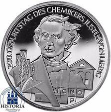 Germania 10 euro 2003 di Justus Liebig speculari Argento-Moneta