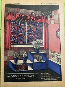 Antique French MADAME Magazine Oct 20,1932 - Needlecraft