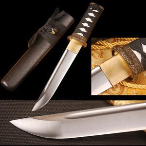 Self-defense Sharp Knife Japanese Samurai Tanto Sword Carbon Steel Shiny Blade