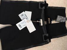BNWT Net A Porter PUCCI en Cuir Noir Panneau Moulante Leggings 46 £ 795