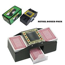 ONE OR TWO DECK AUTOMATIC CASINO PLAYING POKER CARDS SHUFFLER SORTER UK SELLER