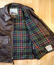 Aero HB Deluxe size 44 (fits like 46) Dark Seal Italian Horsehide Leather Jacket
