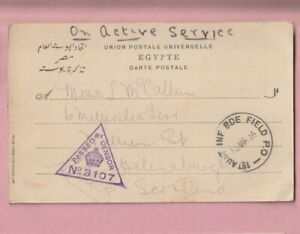 1st Australia Inf Bde Field Post Office, 1916 Passed by censor Military Postmark