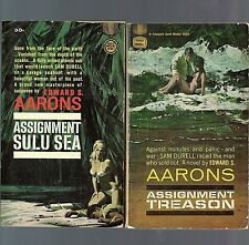 Lot of 2 Pbs by Edward S. Aarons Both Gold Medal 1st prinings GGA Intrigue Spies