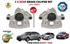 FOR FORD FOCUS II 2004-2012 NEW 2X REAR LEFT + RIGHT SIDE BRAKE CALIPER SET