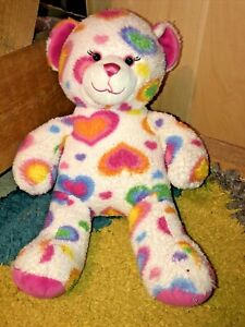 Build A Bear Workshop Rainbow Heart Bear  - Limited Addition 16inch Pride LGBTQ