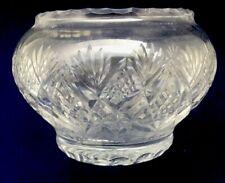"Lead Crystal Hand Cut Glass Rose Bowl 5 1/2"" (23)"