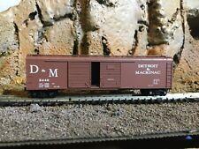 N Scale Micro trains 50' double opening door boxcar DETROIT & MACKINAC.  NIB