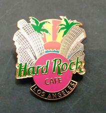 Hard Rock Cafe City Pin Los Angeles City Skyline Palms Sunset 2002 Pink Green