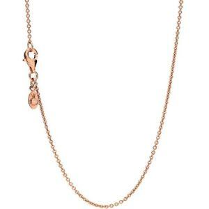Genuine PANDORA ROSE GOLD CLASSIC CABLE Necklace 45cm ALER 580413 RRP £90 .