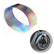 Motorcycle Rim Tape Reflective Wheel Laser Sticker Tire Decal Stripes Universal