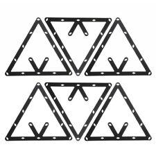 6pcs 8 9 and 10 Ball Magic Rack Positioning Billiard Pool Cue Accessory Black