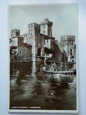 SIRMIONE LAGO DI GARDA barca vela pescatori Brescia vecchia cartolina 17