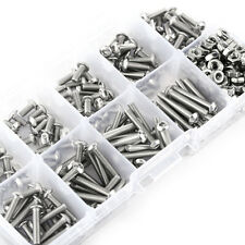 340pcs M3 Stainless Steel Button Head Screws Nuts Bolts Assortment Kits HighQ